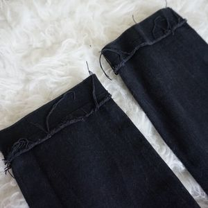 Forever 21 Jeans - forever 21 ankle black jeans with patches sz 28